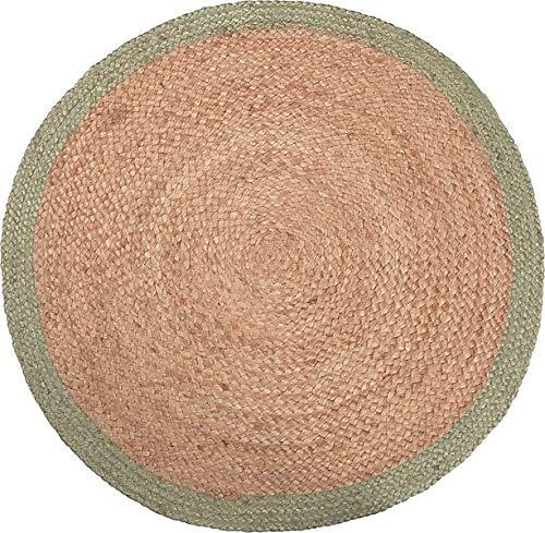 Teppich Scandi Spring Jute Ø 90 cm Natur-Mint