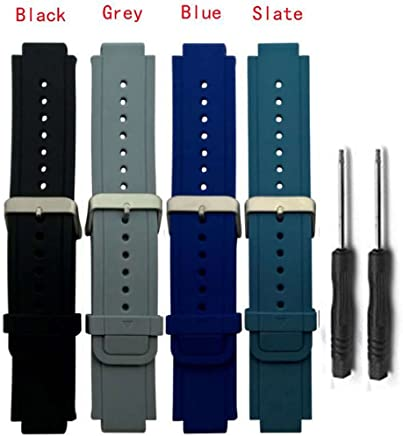 HWHMH Newest Replacement Silicone Bands for Garmin Vivoactive (No Tracker, Replacement Bands Only)