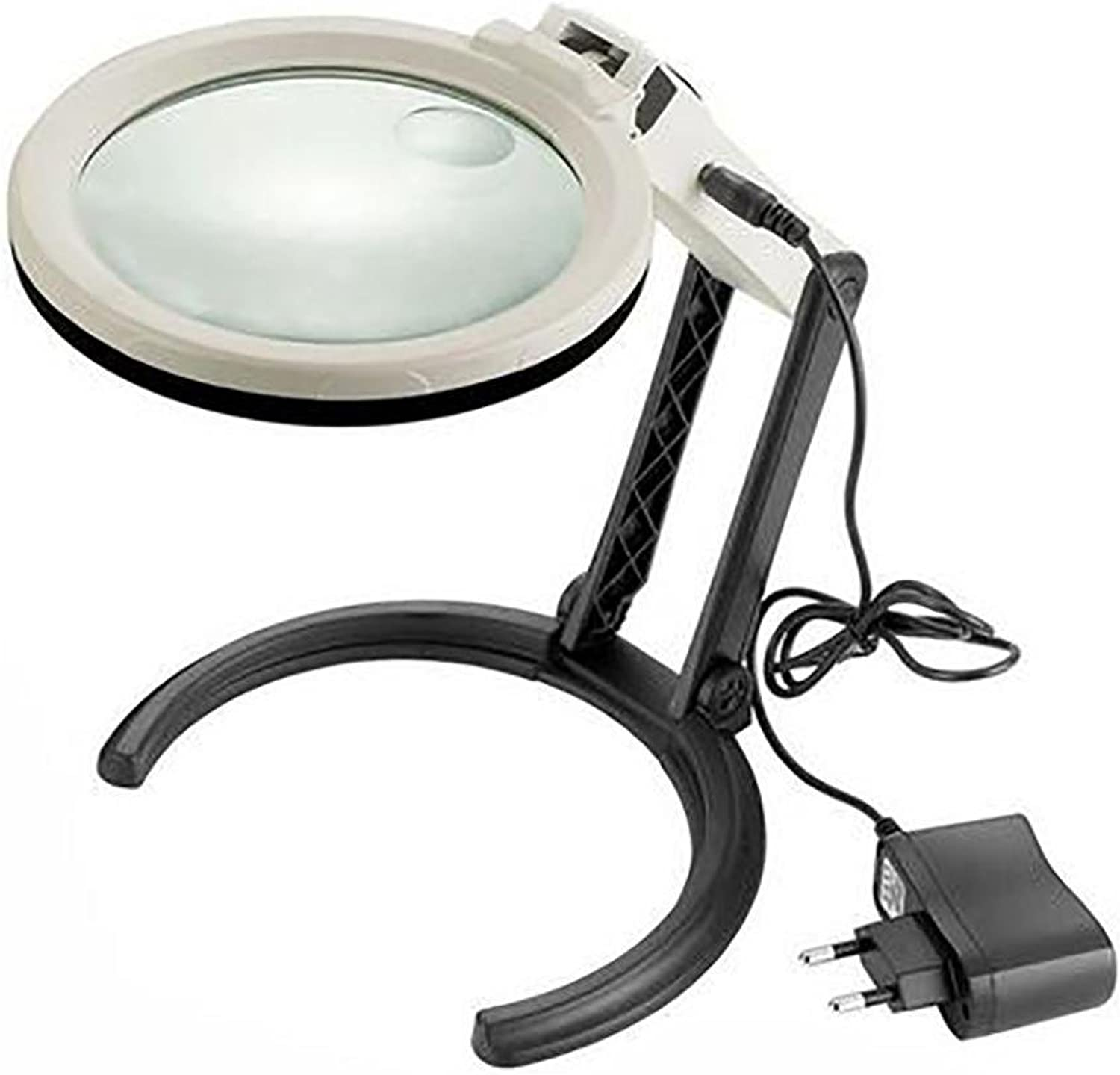 LL-2X 5X 120mm Lens Magnifying Glass with 10 LED Lights Hands Illuminated Magnifier