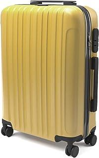 ABS Maleta Equipaje de mano cabina rígida ligera con 4 ruedas, 55cm ,trolley cáscara dura , amarillo