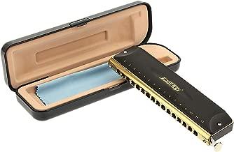 East top 16 Hole 64 Tone Professional Chromatic Harmonica Musical Instrument (BK)