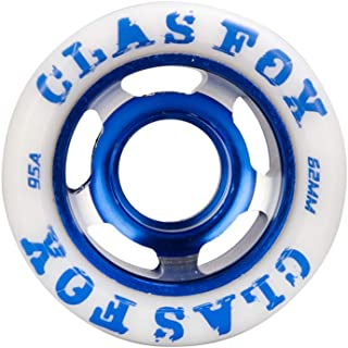 CLAS FOX 95A Speed/Derby Wheels Aluminum Roller Skate Wheels Outdoor Roller Replacement Wheel (Set of 8)