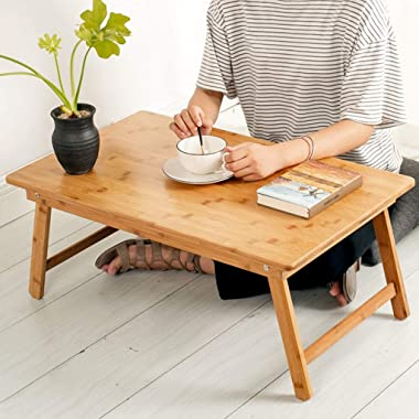 Coffee Table Low Table Home Table Folding Bed to eat Floating Window Table Square Table Tables (Color : Beige, Size : 80 * 50