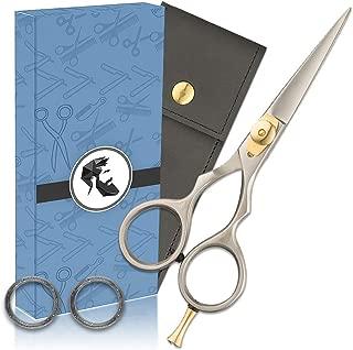 Premium Hand Forged Japanese Steel Hair Beard Mustache Scissors Cut Trim Groom Facial Hair Bangs