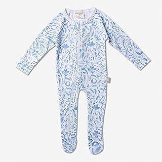 Babyushka Organic Long Sleeve Zip Romper, Blue, 0