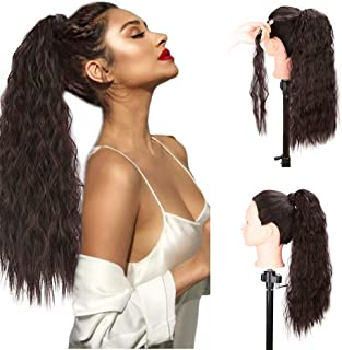 Vigorous Wavy Ponytail Extension Clip in Curly Ponytail for Women Synthetic Long Tie Up Ponytail Extensions Clip in Hairpiece and Ponytail (2/33#)