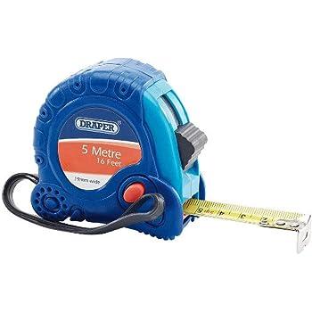Draper 82813 Expert 5M//16ft Professional Measuring Tape Black and  5 m//16 ft