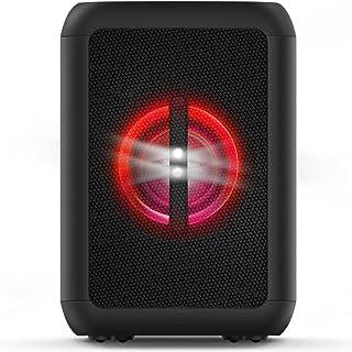 Party Speaker Philips bluetooth com luzes de led, bluetooth, usb, auxiliar, entradas para microfone e guitarra e energia p...