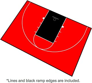 MODUTILE Outdoor Basketball Half Court Kit 44ft x 29ft -Lines and Edges Included - Made in The USA