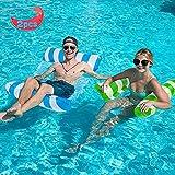 YLSCI Hamaca de Agua, colchoneta piscina, Hamaca Flotante, Cama Flotante de Agua Plegado Inflable Hamaca de Agua flotadores piscina, Dos piezas 26.8' X 50.4'