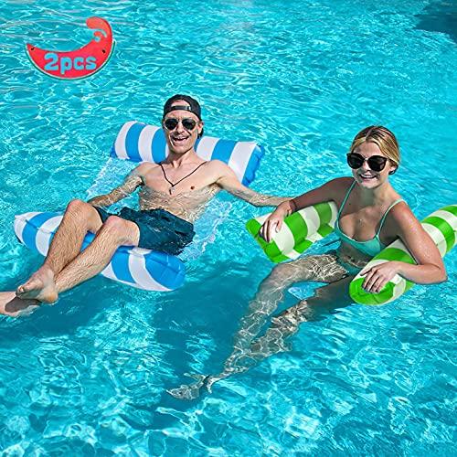 YLSCI Amaca Gonfiabile, piscina gonfiabile, Set di 2 materassino mare, 4 in 1 Letto Galleggiante...