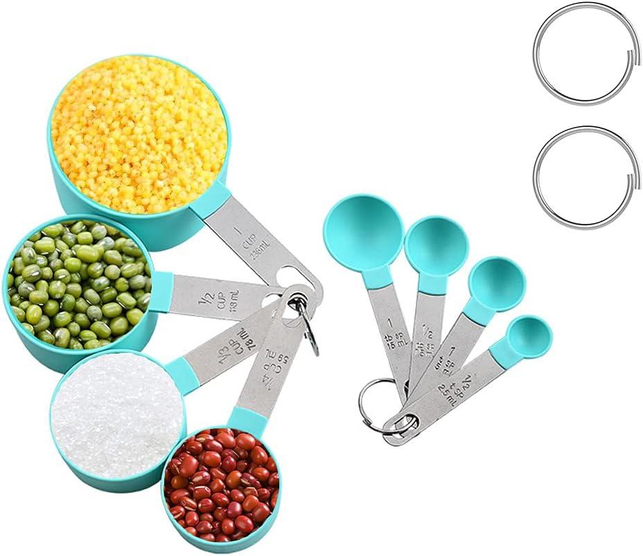 8PCS Measuring Spoons (Cyan)