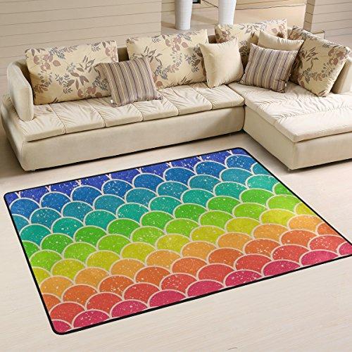 Woor Rainbow Chevron Muster Wohnzimmer Essbereich Teppiche 91,4x 61cm Bed Room Teppiche Büro Teppiche Moderner Boden Teppich Teppiche Home Decor, multi, 3 x 2 Feet