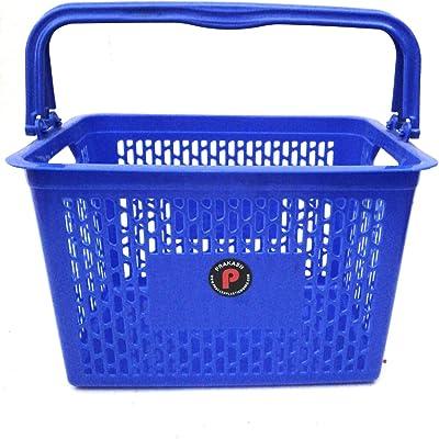Jai Shoppee Polypropylene Shopping Basket with Lid (Blue)