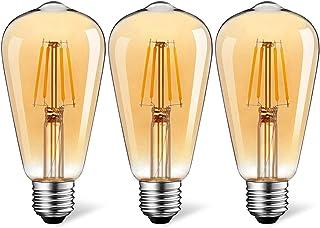 Suncan ST64 Edison vintage glödlampa, Edison LED glödlampa E27 4 W vintage antik glödlampa varm vit dekorativ glödlampa id...