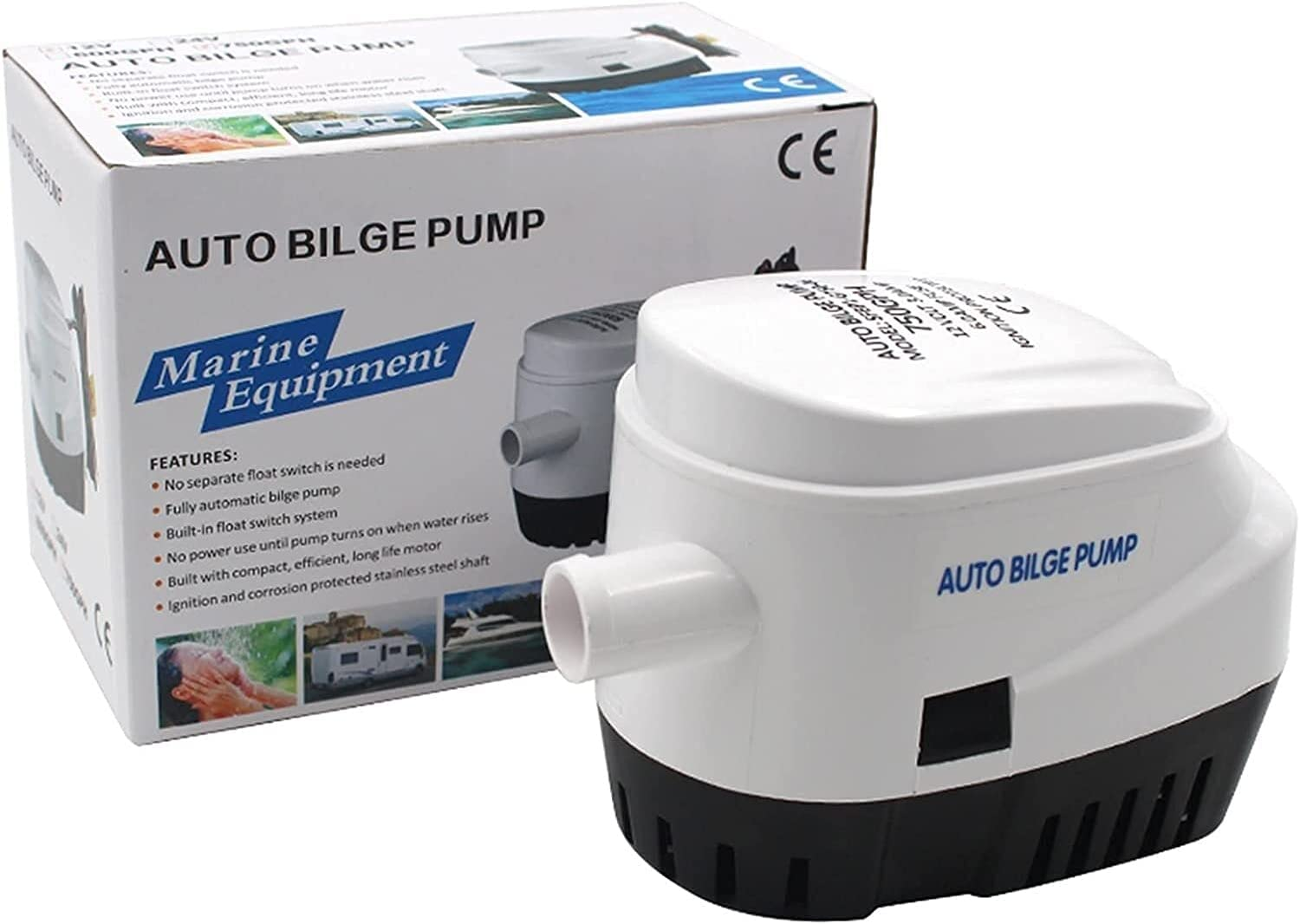 Houston Mall DAYDAY helper Automatic Submersible Spasm price Small 750GPH Boat Bilge Pump