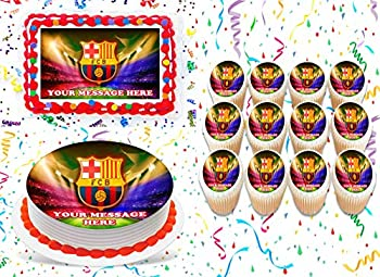 FC Barcelona Cake Topper Edible Image Personalized Cupcakes Frosting Sugar Sheet  8  X 11  Cake Topper