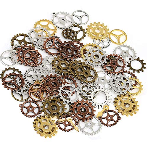 ❂【Meterial】Antique steampunk gears is made of alloy,durable and beautiful. ❂【DIY Design】You can freely use your imagination to combine them into different patterns,inspire your imagination. ❂【Widely Useful】Ideal for art, craft, jewellery making, card...
