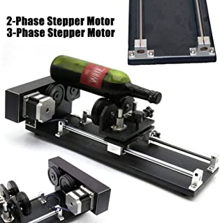 Rotate Engraving for Cutting Machine,CNC Roller Rotation Axis Rotary Attachment 2/3-Phase Router Rotary Axis Rotary Attachment (2-Phase Stepper Motor)