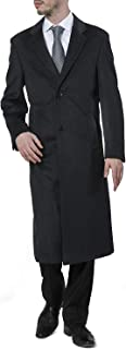 Men's Single Breasted Luxury Wool Full Length Topcoat - Available in Colors