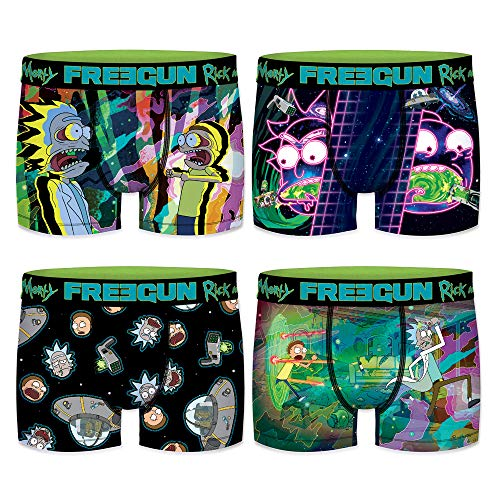 FREEGUN Boxer Homme Rick and Morty (L, Pack 01)