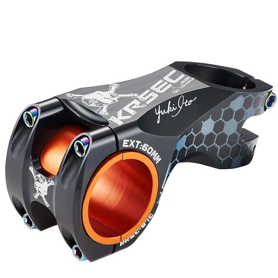 KRSCT Bike Bicycle Stem 31.8 × 60mm Lightweight Mountain Bike Stem Handlebar Stem Suitable for BMX MTB Road Bike, Aluminum Alloy, Adjustable