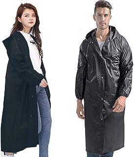 "Rain Ponchos for Adults Rain Phocho By Jinken,Rain coat EVA Reusable Raincoats with Hood, Size 57"" by 27.5"" (2Pack)"