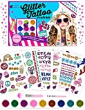 Purple Ladybug Kit de 175 Tatuajes Temporales Niñas con Purpurinas de 9 Colores – Diseños de Tatuajes Temporales Incluyen Sirena, Unicornios y Más – Kit Tatuaje Completo sin Pegamento ni Plantillas