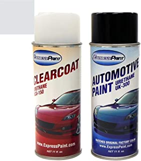 ExpressPaint Aerosol - Automotive Touch-up Paint for Ford Explorer - Silver Birch Pearl Metallic Clearcoat JP/M7052 - Color + Clearcoat Package