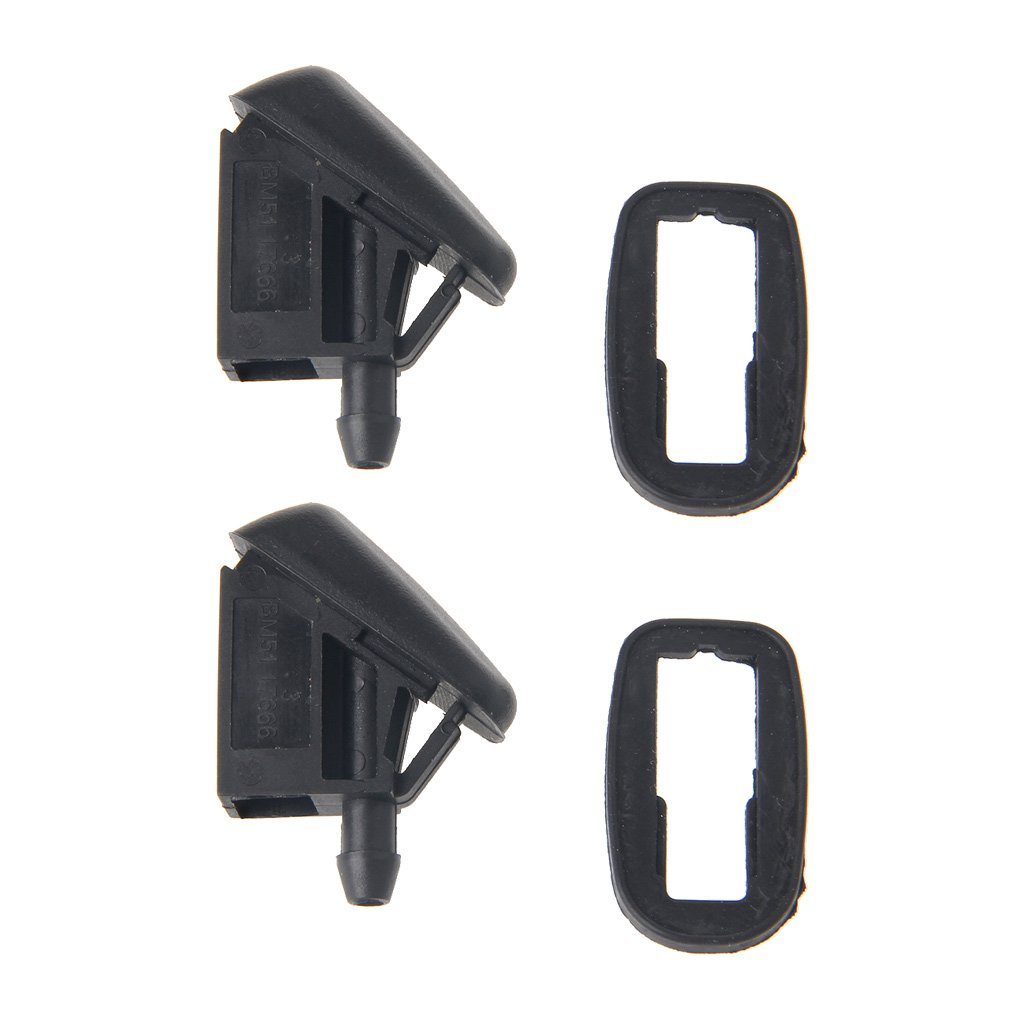 2 x Front Windshield Wiper Washer Nozzle for Pe-ug-eo-t 3-0-7 Windscreen Water Wiper Nozzles Mist Washer Spray Jets