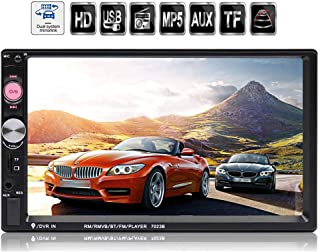 Double Din Car Stereo in-Dash BT Touch Screen 7 inch with Rear-View Camera,Video MP5/4/3 Player, Radio FM, Car Stereo Receiver, Support Backup Rear View Camera, Mirror Link,SARCCH
