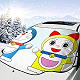 Night-Shop Doraemon Happy-Car Parabrezza anteriore Visiera per Auto SUV Truck Car Isolation Shade (Tipo universale)