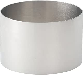 HIC Harold Import Co. 93212, 18/8 Stainless Steel, HIC Food Ring, 3.5-Inches Diameter x 2.125-Inches, Round, 3.5 Inch