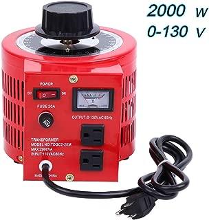 Yonntech Auto Transformer 2000W 20Amp AC Variable Voltage Regulator 2000VA 0-130V Output Autotransformer 110V