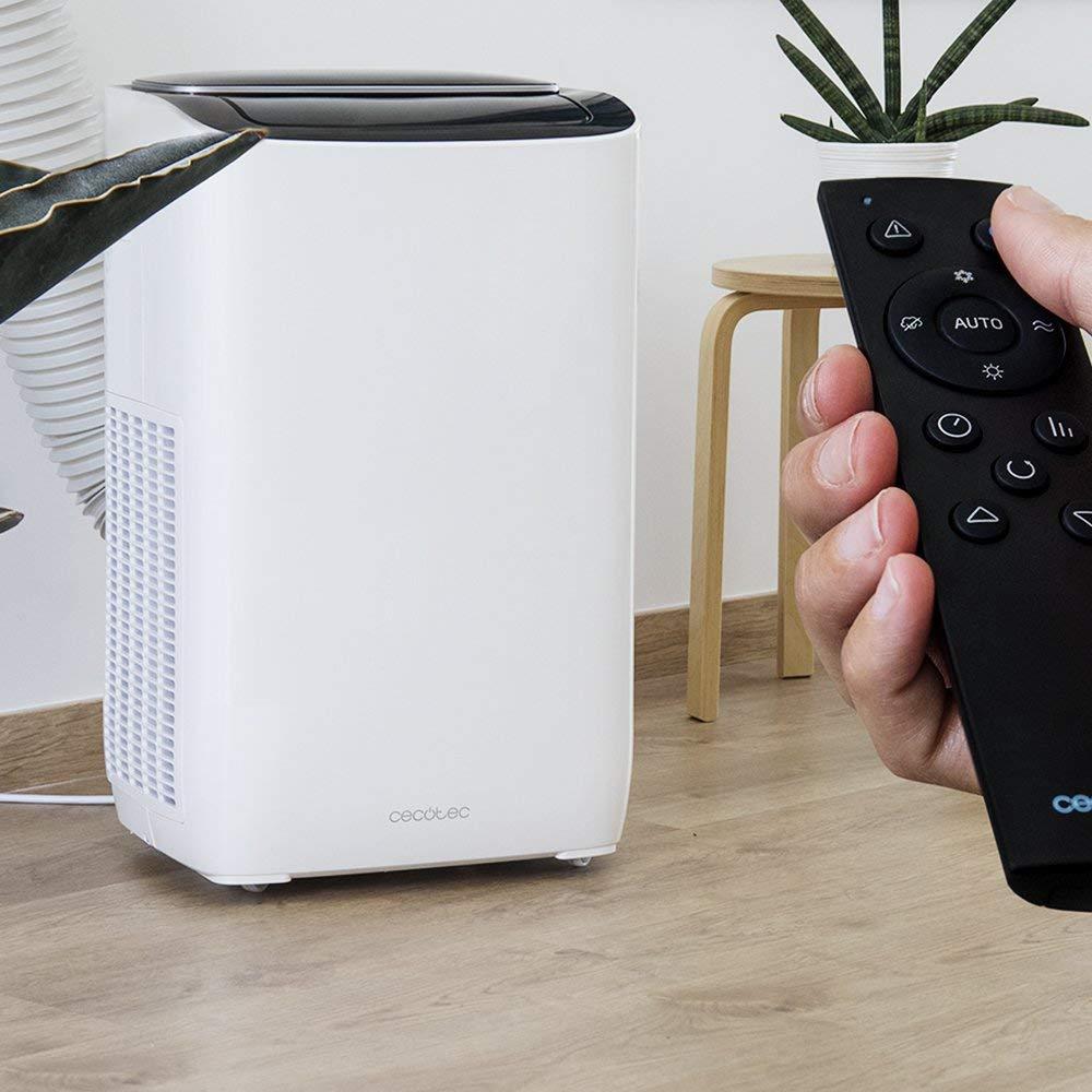 Cecotec Aire Acondicionado Portatil EnergySilence Clima 7250 SmartHeating. 1800 Frigoras, 4 Funciones(Fro, Calor, Ventilador, Deshumidificador), Caudal 350 m_/h ...