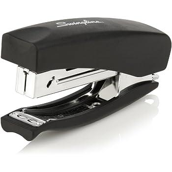 Swingline Stapler, Soft Grip Handheld Stapler, Heavy Duty, Small Portable Size, Mini Stapler for Home Office Desktop and Home School Supplies, 20 Sheet Capacity, Black (09901)
