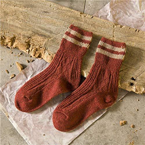 SLM-max Herren Knöchelsocken,Baumwollsocken 5 Farben Mode Retro Frauen Socken Herbst Winter Wamer Baumwolle Mädchen Socken Weibliche Röhrensocke Studenten Strumpfwaren
