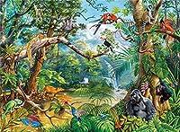 2000ピースパズル、多くの動物、紙のパーソナライズされた組み立てジグソー楽しいゲーム 100x70cm