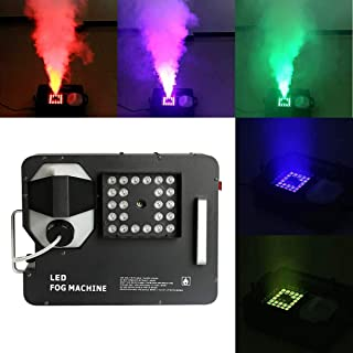 Tengchang RGB 3 in1 24 LED DMX Fog Smoke Machine Stage Lighting Vertical Spray W/Remote