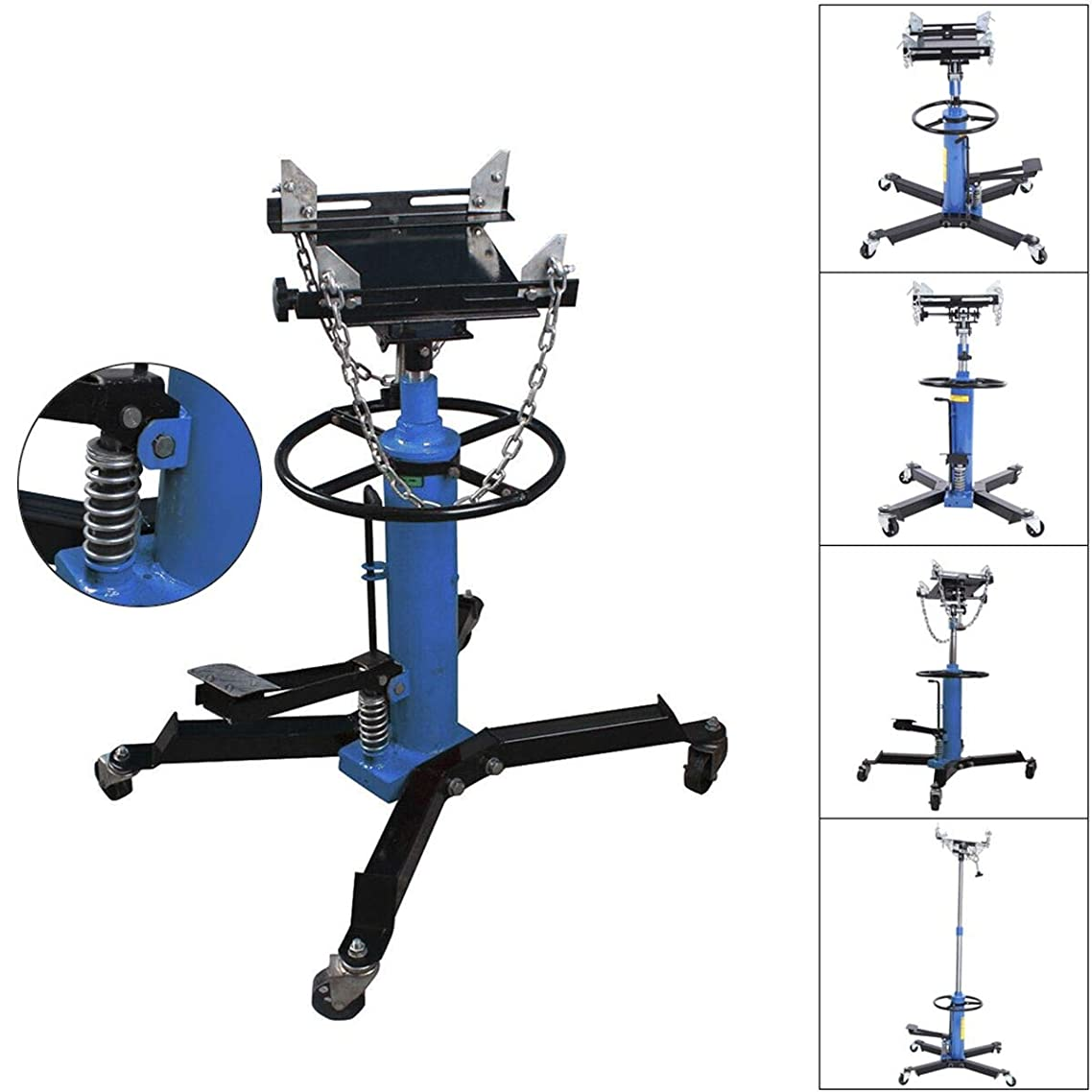 SuxiDi 2 Stage1100LBS Hydraulic Transmission Jack w/ 360° Swivel Wheels Lift Hoist Blue