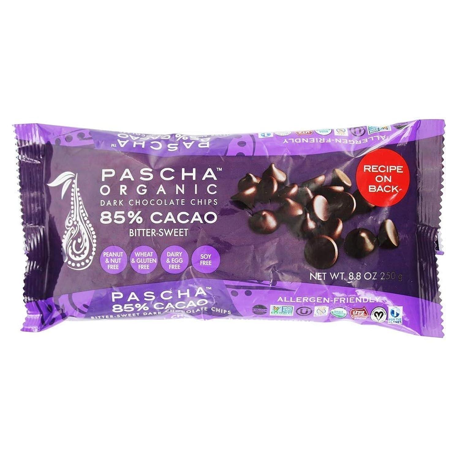 Pascha Chocolate Baking Chip, 85% Caca, 8.8 oz