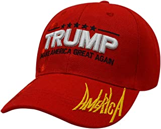 DISHIXIAO Make America Great Again Baseball Cap with USA Flag 3D Embroidery Trump Ball Caps Adjustable Hat