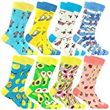 Bunte Baumwolle Socken Lustigem Fantastisch Muster Glücklich Sock(8Pairs 805)