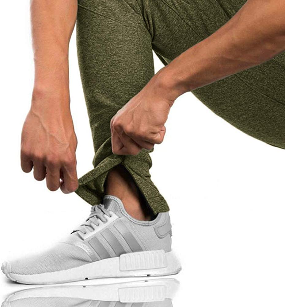Rdruko Mens Sports Joggers Pants Athletic Sweatpants Gym Workout Pants Slim Fit with Pockets