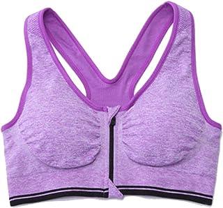 comprar comparacion LaoZan Sujetador Deportivo con Cremallera Frontal para Mujer Push Up Sujetador De Yoga De Gimnasia
