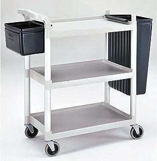 """Cambro Black Plastic 3-Shelf Multi-Purpose Cart - 33""""L x 16 1/4""""W x 38""""H"""