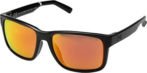 Satin Black/Black Frame/Orange Multiflection Lens