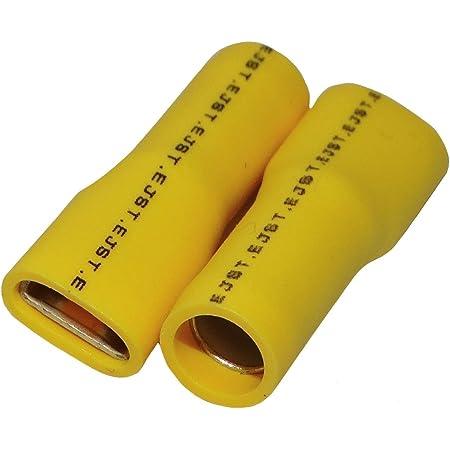 Non-Isolé Femelle Balles Zinc Câble 1.6 mm Taille 0.50-1.00mm² ET409