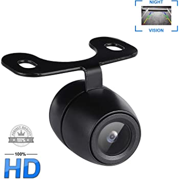 Side View Camera Blind Spots Car Camera without Drilling Car Reversing Cam Rear View Backup Camera IP68 Waterproof Front Camera 120 Degrees Wide Angle Lens Loop Recording Night Vision 12V