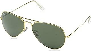 Ray-Ban UV protection Aviator unisex Sunglasses (L0205|58 millimeters|Green)